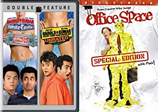 3-Movie Comedy set Harold & Kumar Go to White Castle (Extreme Unrated), Harold & Kumar Escape from Guatanamo Bay (Unrated Special Edition) & Office Space Triple Movie Set