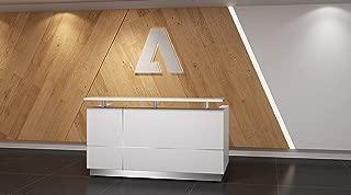 Modern Gloss White Reception Desk (71