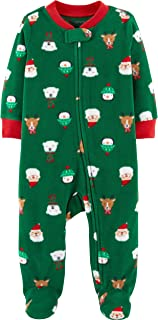 Carter's Baby Boys' Christmas Zip-Up Fleece Sleep & Play (9 Months)