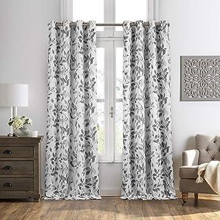 Leaf Print Blackout Curtains