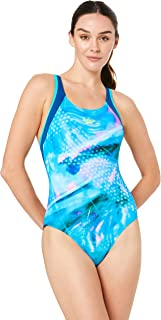 Speedo Women's MUSCLEBACK ONE Piece, Streak/Mariner/inca