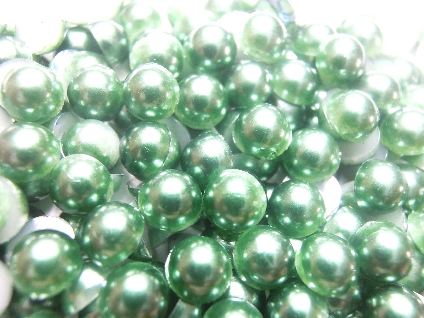 コスト言及する定期的【ラインストーン77】超高級 パールストーン 各サイズ選択可能 2mm~8mm 緑 (4mm (約200粒))