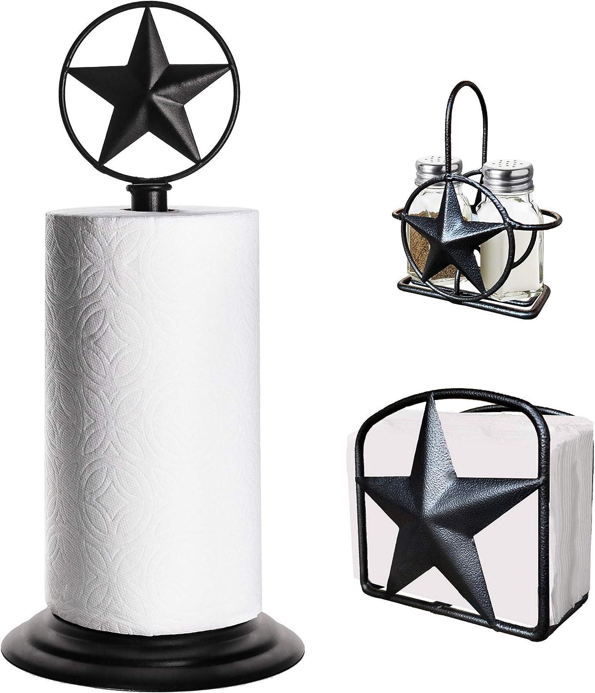 Black Rustic Texas Challenge the lowest price of Japan Star Paper Towel Napkin Ranking TOP9 Salt Holder
