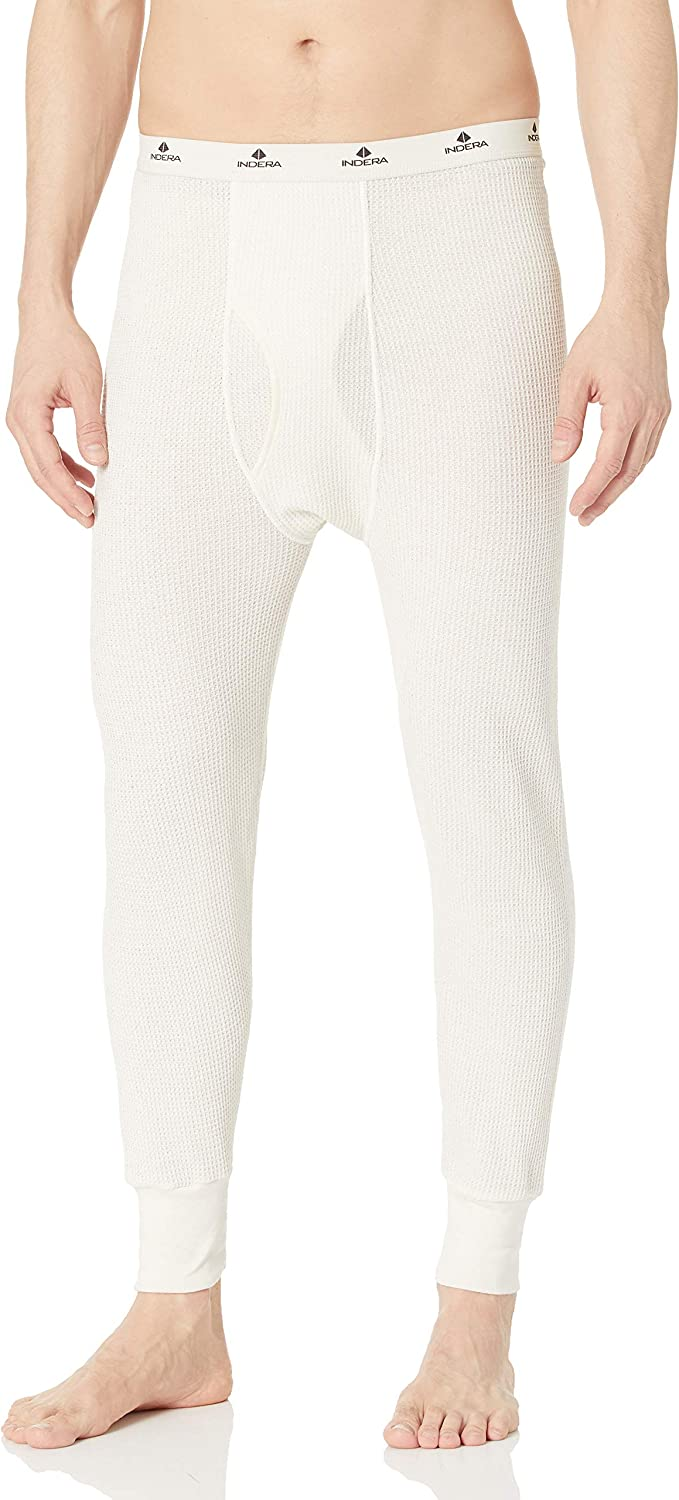 Indera Men's Traditional Long Johns Thermal Underwear Pant: Clothing