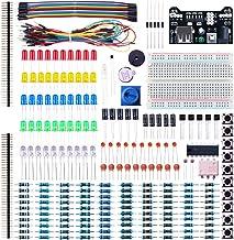 ELEGOO Kit de Componentes Electrónicos con Placa de Prototipos, Resistencias, Leds, Condensadores, Potenciómetro, para Kit de Aprendizaje UNO R3, Mega 2560, Raspberry Pi, Compatible con Arduino IDE