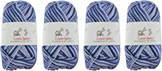 Cotton Select Multicolored Variegated Sport Weight Yarn - 4 Skeins - Col 016 - Blueberry Pie