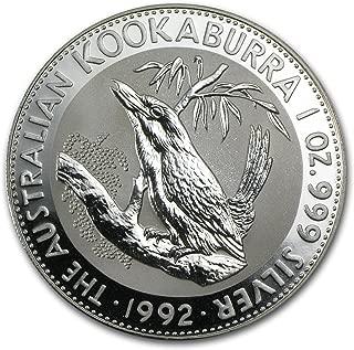 1992 AU Australia 1 oz Silver Kookaburra BU 1 OZ Brilliant Uncirculated