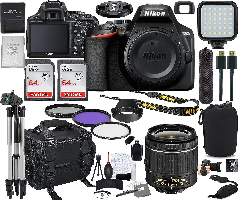 Nikon D3500 Credence DSLR Camera with 18-55mm Indefinitely Prime 1590 Bundle + Lens