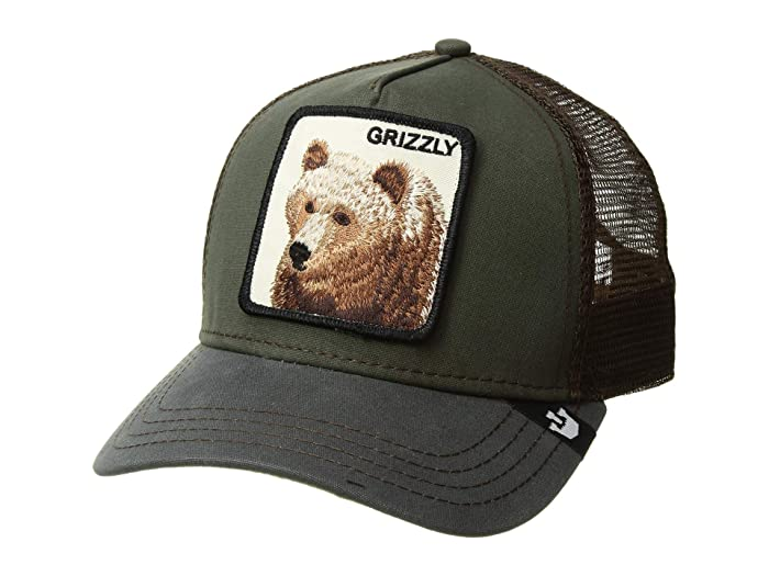 Goorin Brothers  Animal Farm Snap Back Trucker Hat (Olive Grizz) Caps