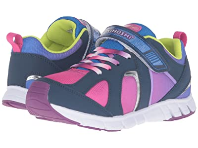 Tsukihoshi Kids Rainbow (Little Kid/Big Kid) (Navy/Fuchsia) Girls Shoes