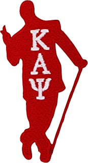Kappa Alpha Psi Fraternity Guy w/Cane Embroidered Appliqué Patch Sew or Iron On Greek Blazer Jacket Bag Nupe (Guy w/Cane Patch)