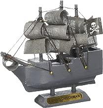 Hampton Nautical Wooden Flying Dutchman Model Pirate Ship Christmas Ornament, 4