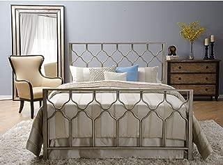 Motif Designs Honeycomb Brushed Gold Bed King
