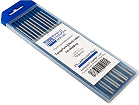 "TIG Welding Tungsten Electrodes 2% Lanthanated 3/32"" x 7"" (Blue, WL20) 10-Pack"