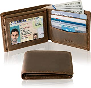 bi fold wallet leather