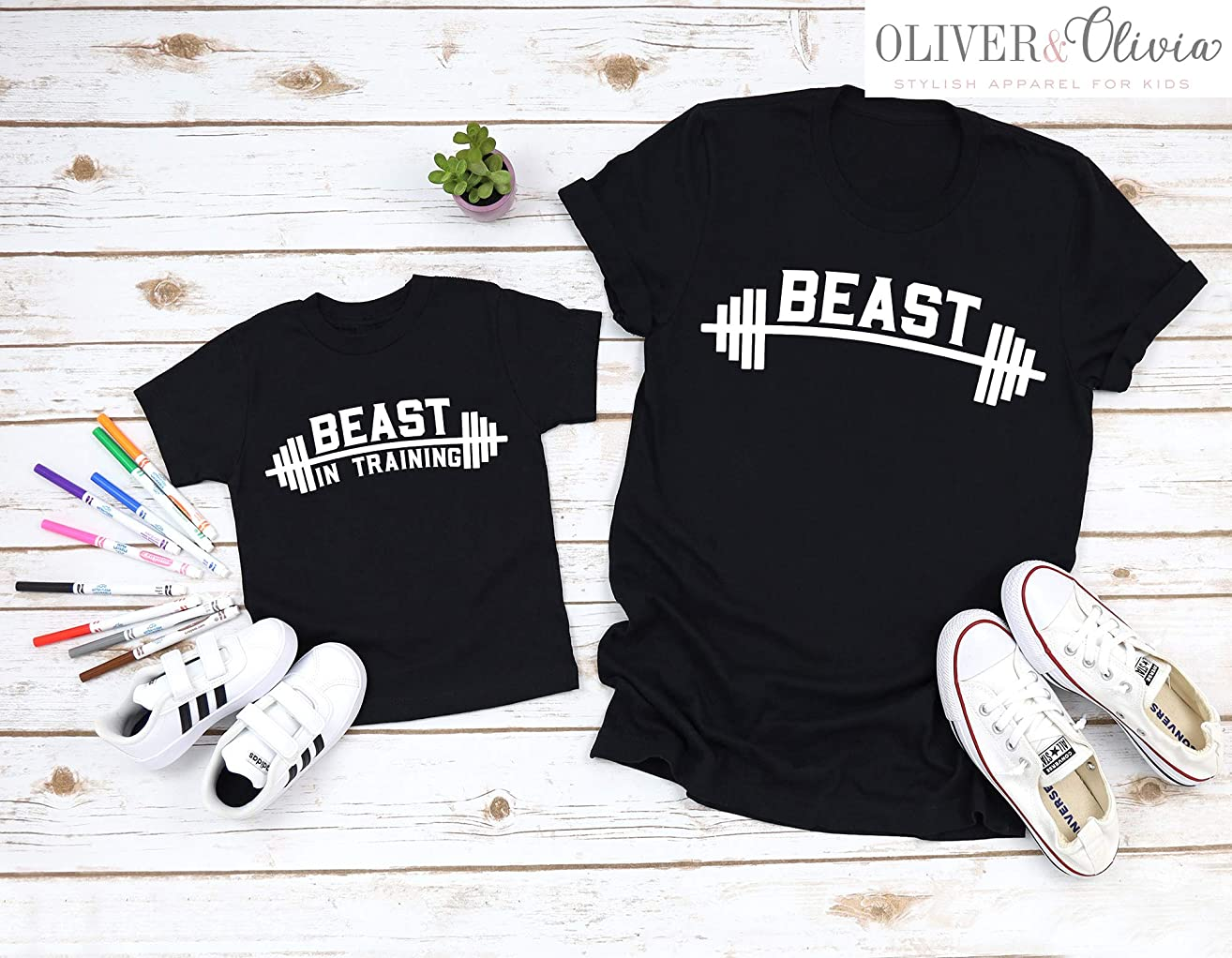 Dad and Son Beast Shirts Funny Dad Shirts Daddy and Me Shirts Dad and Daughter Shirts Funny Father Son Shirts Beast in Training