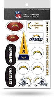 Rico Industries NFL San Diego Chargers Tattoo Variety Pack
