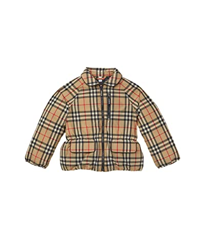 Burberry Kids Mollie Check Jacket (Little Kids/Big Kids) (Archive Beige IP Check) Girl