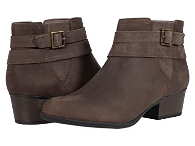 Clarks Bell Show (Dark Taupe Leather) Women