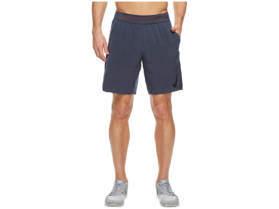 Nike Flex 8 Training Short (Thunder Blue/Hyper Crimson/Black) Men