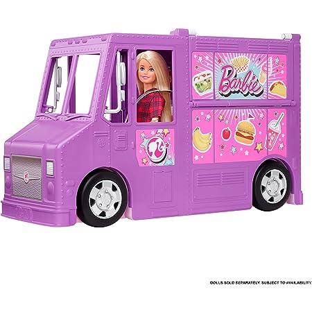 Barbie Furgoncino Street Food, Veicolo Trasformabile con più di 30 Accessori, Giocattolo per Bambini 3+ Anni, GMW07