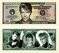 American Art Classics Set of 25 - Limited Edition David Bowie Million Dollar Bill Novelty Note