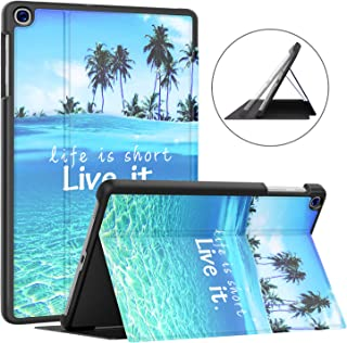 Soke Galaxy Tab A 10.1 Case 2019, Premium Shock Proof Stand Folio Case,Multi- Viewing Angles, Soft TPU Back Cover for Samsung Galaxy Tab A 10.1 inch Tablet [SM-T510/T515],Summer Beach