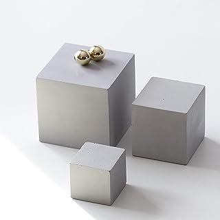 Atelier Ideco - Insieme Di Cubi 3 Di Calcestruzzo, Esposizione Dei Monili, Regalo Di Architetto
