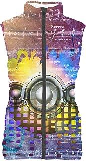 Rainbow Rules Music DJ Trance Mens Puffer Vest Bodywarmer Gilet