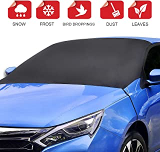 ALTITACO Car Windshield Snow Cover, Frost Guard Protector, Magnetic Windshield Snow Frost Ice Cover Sunshade Snow Covers with Elastic Hooks Fits Most Car, SUV, Truck, Van or Automobile with 83