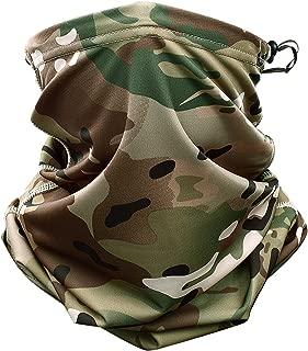 Kangkangk Multicam Camouflage Tactical Neck Warmer Tube Half Face Mask Military Scarf Wristband Pirate Rag Hats Magic Headband Bandana