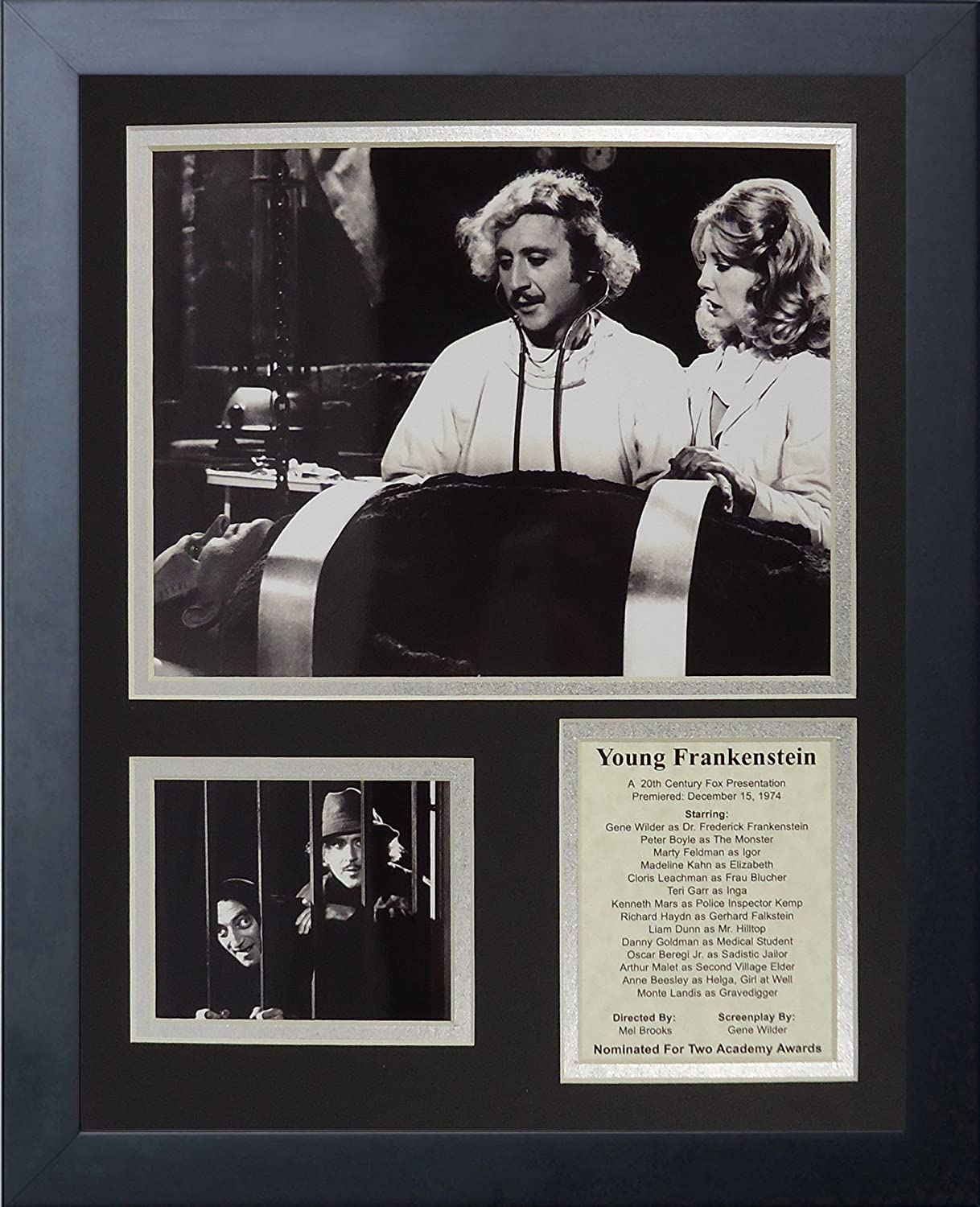 Legends Never Die Young Frankenstein  Framed Photo Collage, 11 x 14Inch