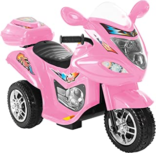 Lil' Rider Ride-On Toy Trike Motorcycle –Battery Operated Electric Tricycle for Toddlers with Built-in Sound and Working Headlights (Pink)