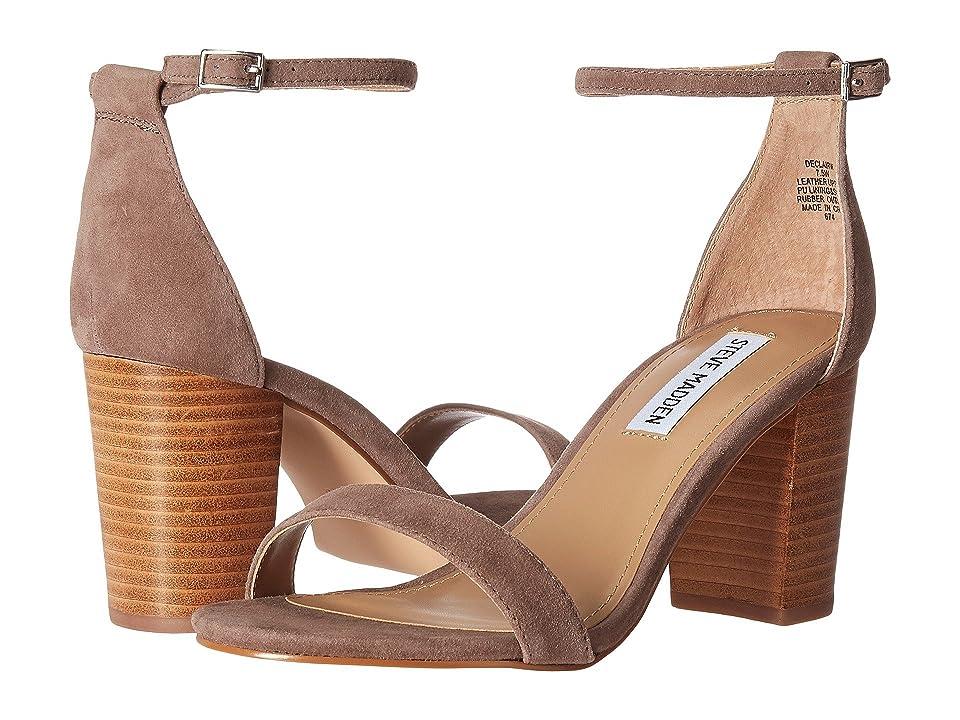 Steve Madden Exclusive Declair Block Heeled Sandal (Grey Multi) High Heels