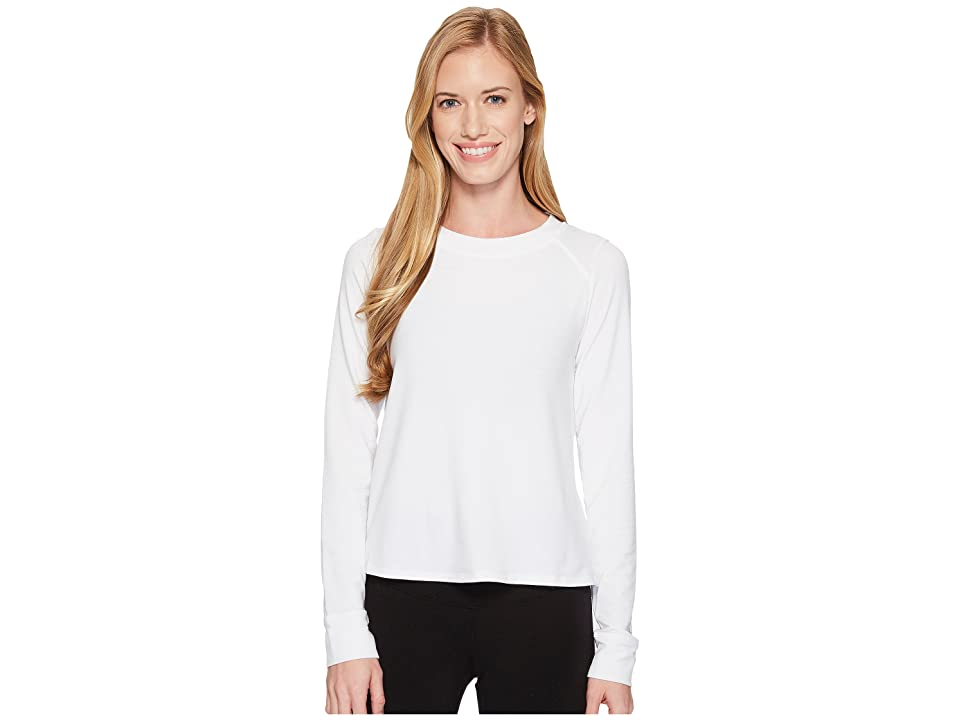 Under Armour Modal Terry Crew Top (White/Tonal) Women