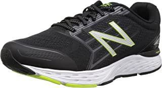 New Balance Men's 680v5 Running Shoes, Black, EU 46 1/2, 12 2E US