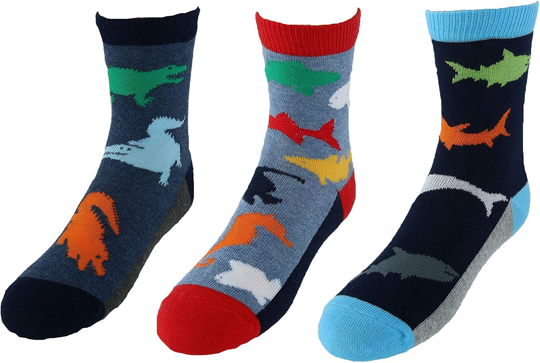 Jefferies Socks Baby Boy's Water Animals Crew 3-Pack (Infant/Toddler/Little Kid)