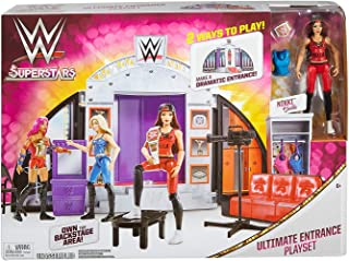 WWE Wrestling Superstars Ultimate Entrance Playset with Nikki Bella, Sliding Doors & Runway, 2 Ways to Play! Make A Dramatic Entrance! Own The Backstage Area! Ages 6+ New in Unopened Box