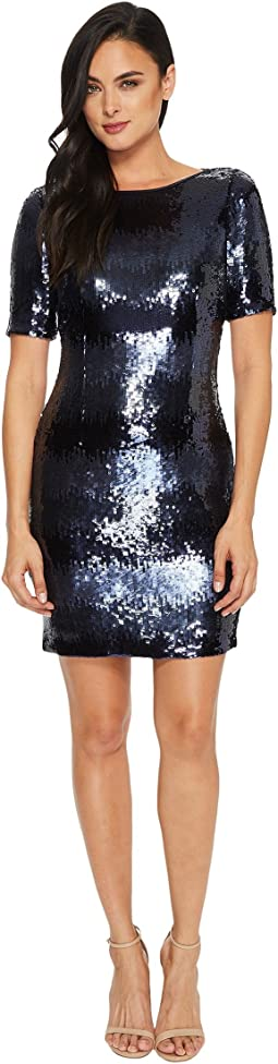Tahari by ASL - Ombre Sequin Sheath Dress