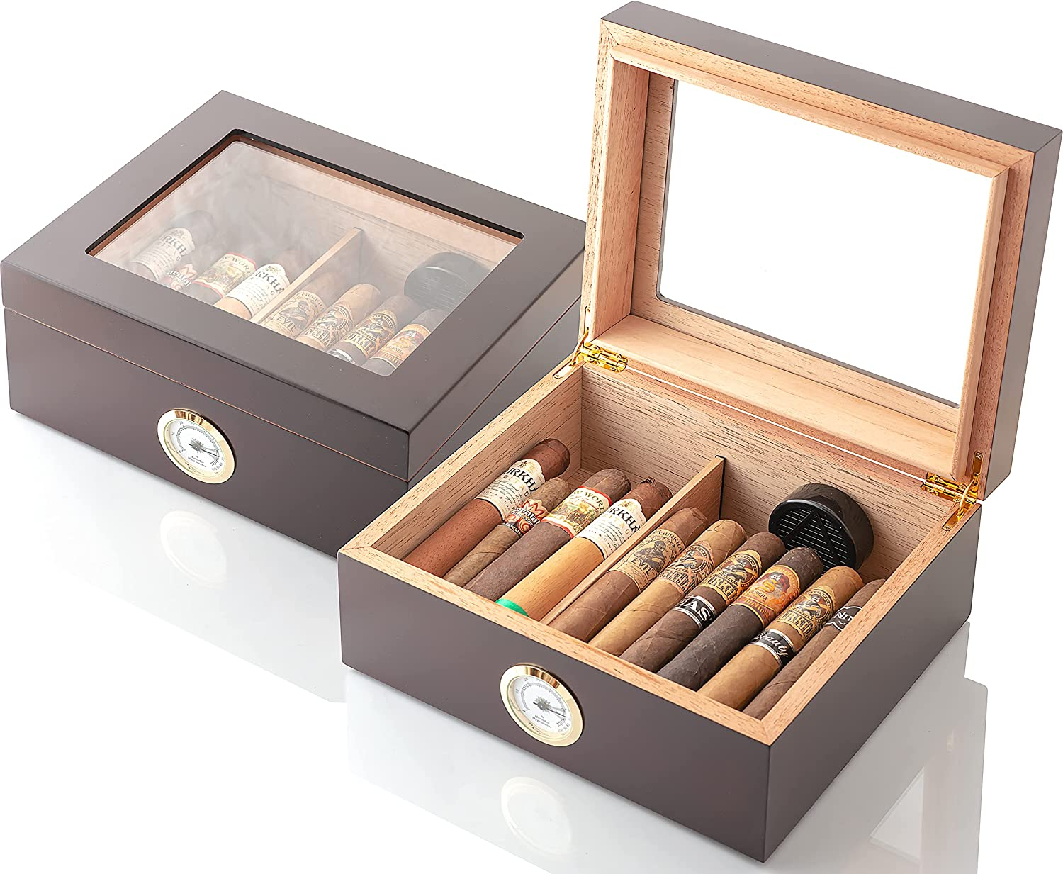 GlassTop Handcrafted Cigar Brand new Humidor Cigars 25-50 Gifts Indianapolis Mall -