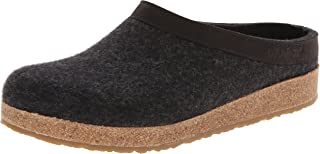 HAFLINGER Unisex-Adult GZL Leather Trim Grizzly