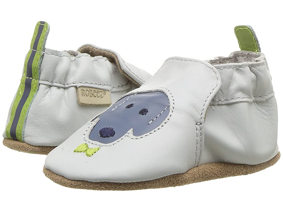 Robeez Dog Buddies Soft Sole (Infant/Toddler) (Light Grey) Boy