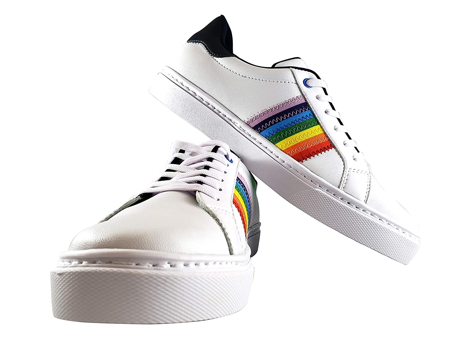 Ranking TOP9 Rainbow Pride Long-awaited Shoes - White with Black 9. Trimming WOMEN'S