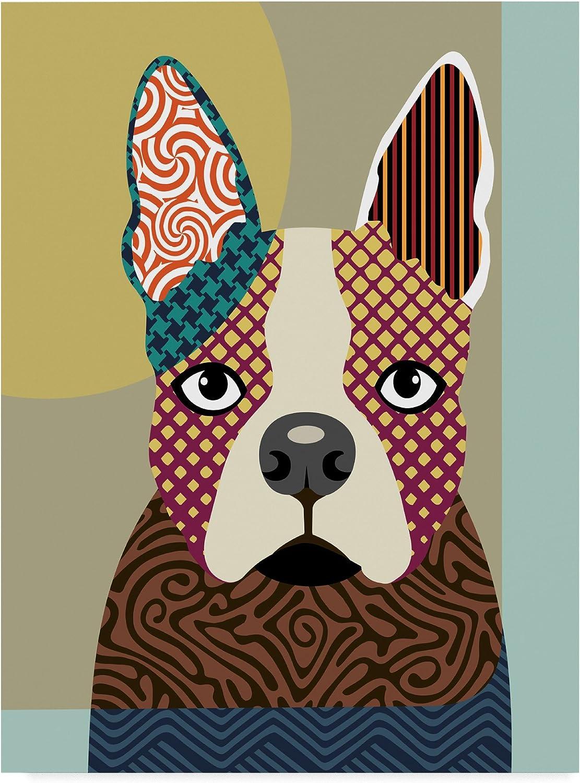 Boston Terrier by Lanre Adefioye, 14x19Inch