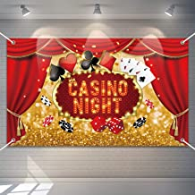 Best Las Vegas Backdrop BannerCasino Night Birthday Baby Shower Background Las Vegas Themed Birthday Party Baby Shower Decorations Large Size Review