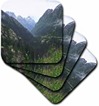 3dRose CST_65228_2 Pretty Alaskan Mountains Photograph-Soft Coasters, Set of 8