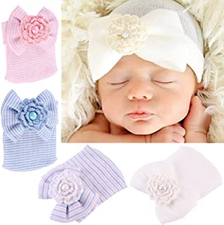 Baby Cotton Nylon headbands Turban Knotted Girls Hairband Super Soft and Stretchy for Newborn Toddler Childrens Dayreamily