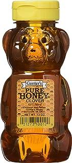 Gunter's Pure Clover Honey Bears, 12 Oz (Pack of 4)