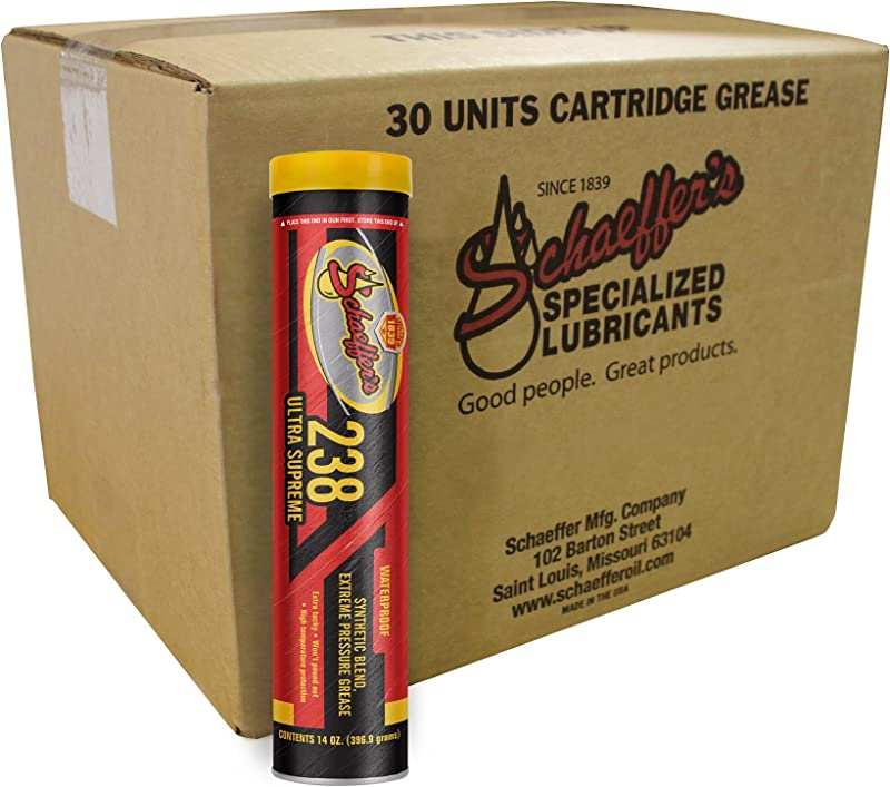 Schaeffer Manufacturing Co 02382 029 Ultra Supreme Grease NLGI 2 14 Oz Pack Of 30