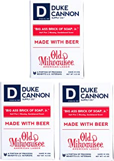 Duke Cannon Half Pint Big Brick of Beer Soap for Men Jr, 4.5 Ounce - Travel Size, (Pack of 3)